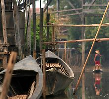 boats of inle lake by Colinizing  Photography with Colin Boyd Shafer
