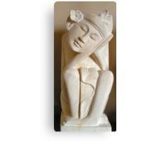 Balinese dreamer handmade sand stone statue Canvas Print