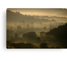 good misty morning to you Canvas Print