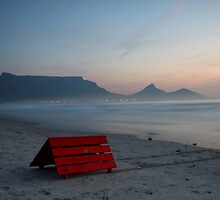 The little red roof and Table Mountain by fortheloveofit