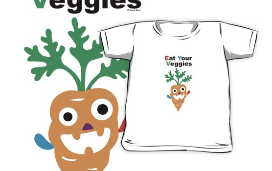 Eat your Veggies - carrots   by Andi Bird