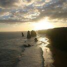"Sunsetting over the ""Twelve Apostles"" by Chris Chalk"