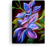 Flowers...Clematis Canvas Print