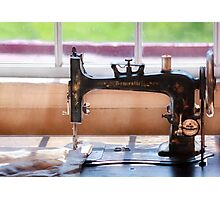 Sewing Machine - A stitch in time Photographic Print
