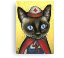Nurse cat Canvas Print