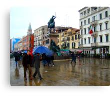 The Rain In Venice Canvas Print