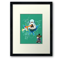 It's a Fish Eat Fish World Framed Print
