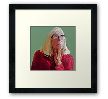 Red top Framed Print