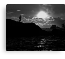 Sunset in BW Canvas Print