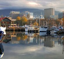 Reflections of Hobart by CezB