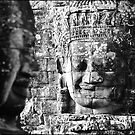 Bayon Faces , Angkor Complex by Tim  Barnsley