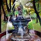 Fountain in the park by mikejohnson