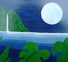 Moonlight on the Napali Coast by John Henry Martin