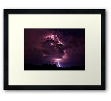 Lightning strike in Missouri Framed Print