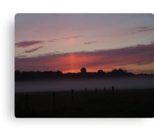 Misty layer Canvas Print