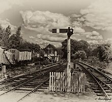 Foxfield Signalbox B&W by Aggpup
