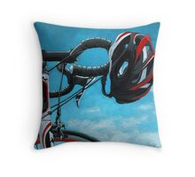 """Bicycle Art - """"Great Day"""" Throw Pillow"""
