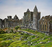 Rock of Cashel, Ireland (Carraig Phadraig) - oil painting by Avril Brand