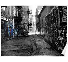 black and white graffiti Poster