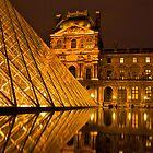 Reflections of the Musée du Louvre by James Torrington