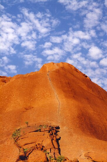 Uluru Climb by Michael Vickery