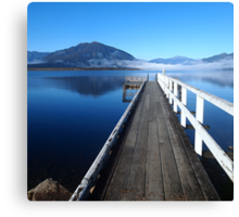 Lake Brunner jetty Canvas Print