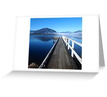 Lake Brunner jetty Greeting Card