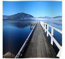 Lake Brunner jetty Poster