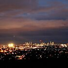 Melbourne Lights at night by Kylie Mckay