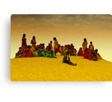 The Colors of Rajasthan and Sam Sand Dunes Canvas Print