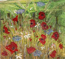 Poppy Field 1 by Carol Rowland