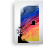 Willow sun rise. Canvas Print