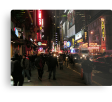 Friday Night Live - Times Square, New York City Metal Print