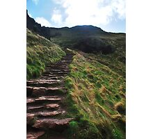 Stairs up to King Arthurs Seat, Edinburgh Photographic Print