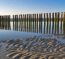 Reflections on the beach 2 by Adri  Padmos
