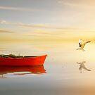 Soft Sunset on the Beach 13 by Carlos Casamayor