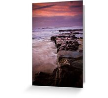 Rocks out to Lady's Surfing Break, Merewether Beach Greeting Card