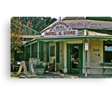 Greendale Hotel Meals and Provisions, Hotel and Store Victoria Canvas Print