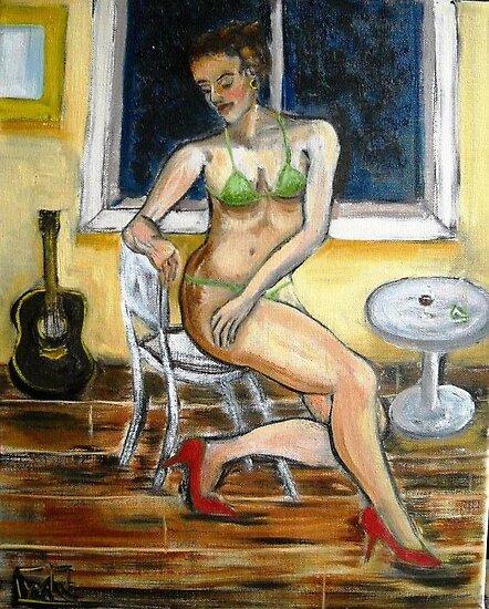 Evening in the Studio by Christopher  Raggatt