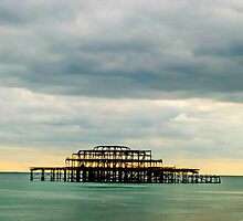 west pier - sunsetting at Brigton Beach  by Hannah  West