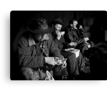 Lunch for four Canvas Print