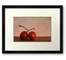 Cherries in Love Framed Print