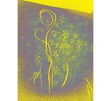 yellow figure Photographic Print