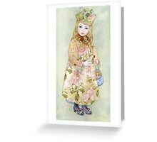 """Watercolour from a series """"Doll"""" Greeting Card"""