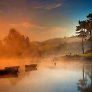 Misty sunrise, Knapps Loch by David Mould