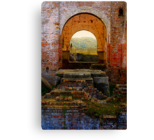 Lithgow NSW - Remains of the Ferranti Blast Furnace No 1 Canvas Print