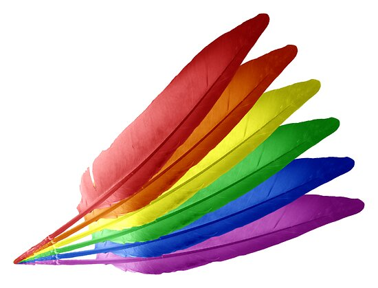 Rainbow Feathers Rainbow feathers by dave Colorful Feathers