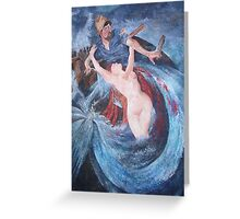 The Siren and the Fisherman Greeting Card