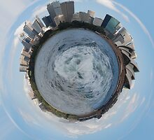 Planet Sydney - 1st attempt at using Polar Coordinates  by gail anderson