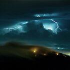 Lightning at Buzzard's Rock by Spencer Black